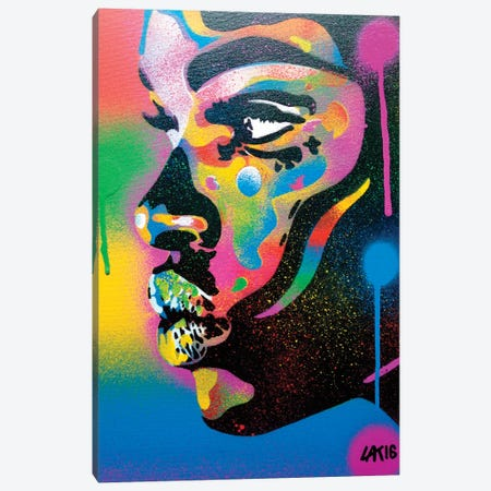 Kiss Series II Rainbow Canvas Print #ABG127} by Abstract Graffiti Canvas Art Print