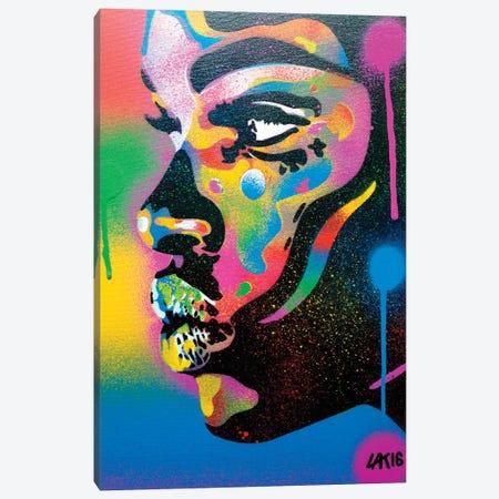 Kiss Series II Rainbow Canvas Print #ABG127} by Abstract Graffiti Canvas Art Print