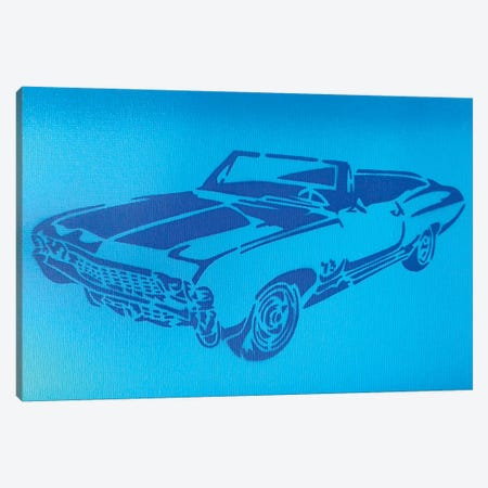 Muscle Car I Canvas Print #ABG154} by Abstract Graffiti Canvas Art
