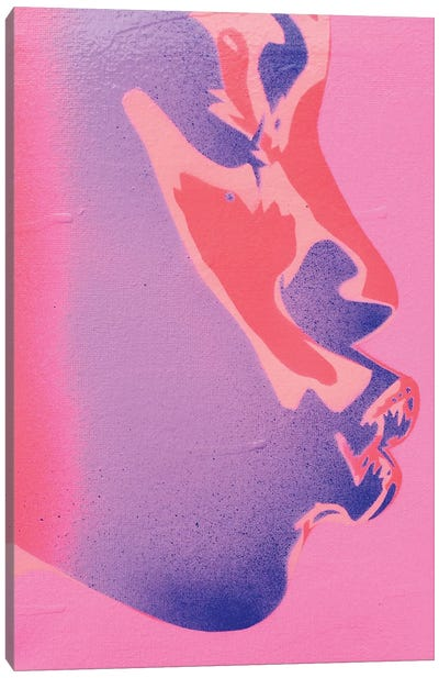 Pink Kiss Canvas Art Print
