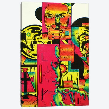 Pulp Fiction Canvas Print #ABG192} by Abstract Graffiti Canvas Art Print