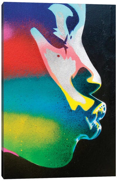 Rainbow Kiss Canvas Art Print