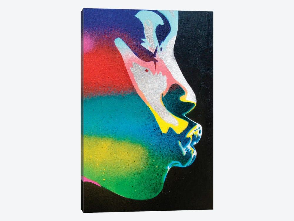 Rainbow Kiss by Abstract Graffiti 1-piece Canvas Print