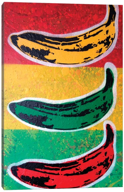 Rasta Banana Canvas Art Print