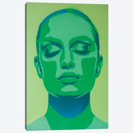 Skin Deep Green Canvas Print #ABG215} by Abstract Graffiti Canvas Print