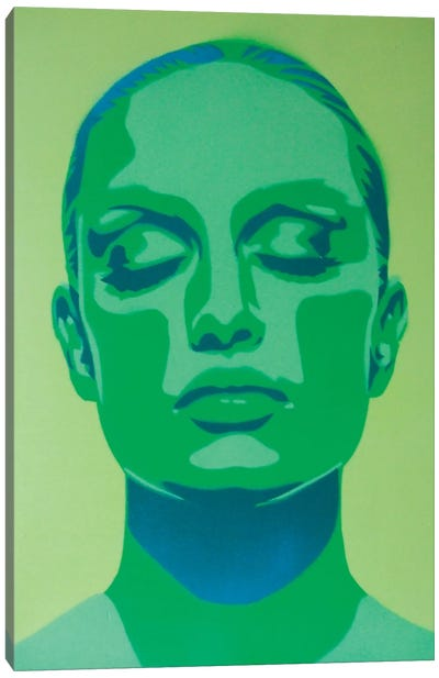 Skin Deep Green Canvas Art Print