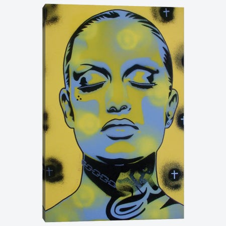 Skin Deep Street Canvas Print #ABG218} by Abstract Graffiti Canvas Art