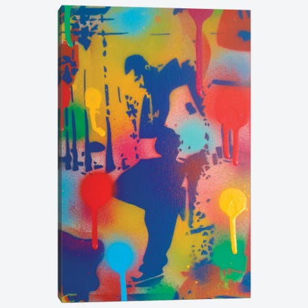 Street Scene I Canvas Print #ABG228} by Abstract Graffiti Canvas Art Print