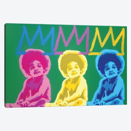 3 Kings Canvas Print #ABG3} by Abstract Graffiti Art Print