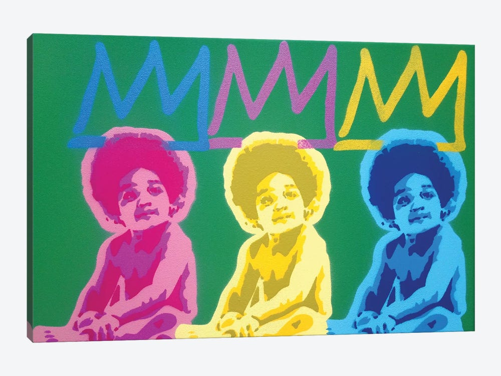 3 Kings by Abstract Graffiti 1-piece Canvas Wall Art