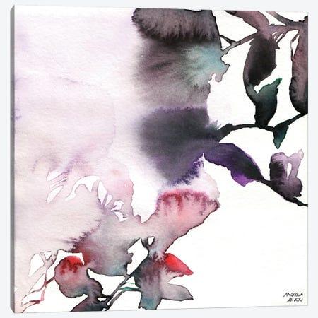 Watercolor Floral Pink Purple Trio I Canvas Print #ABI10} by Andrea Bijou Canvas Art