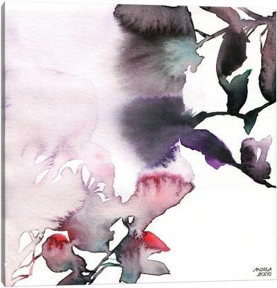 Watercolor Floral Pink Purple Trio I Canvas Art Print