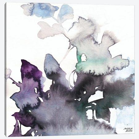 Watercolor Floral Pink Purple Trio III Canvas Print #ABI12} by Andrea Bijou Canvas Art