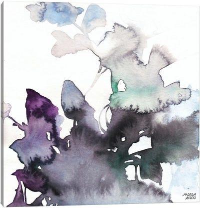 Watercolor Floral Pink Purple Trio III Canvas Art Print