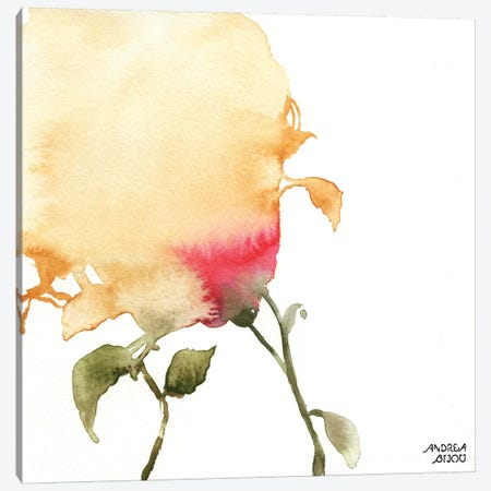 Watercolor Floral Yellow and Red I Canvas Print #ABI13} by Andrea Bijou Canvas Artwork