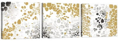 Speckled Trio Triptych Canvas Art Print