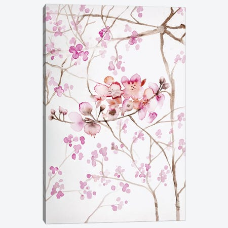 Cherry Blossoms 3-Piece Canvas #ABI5} by Andrea Bijou Canvas Artwork