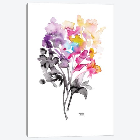 Colorful Bouquet Canvas Print #ABI6} by Andrea Bijou Canvas Wall Art