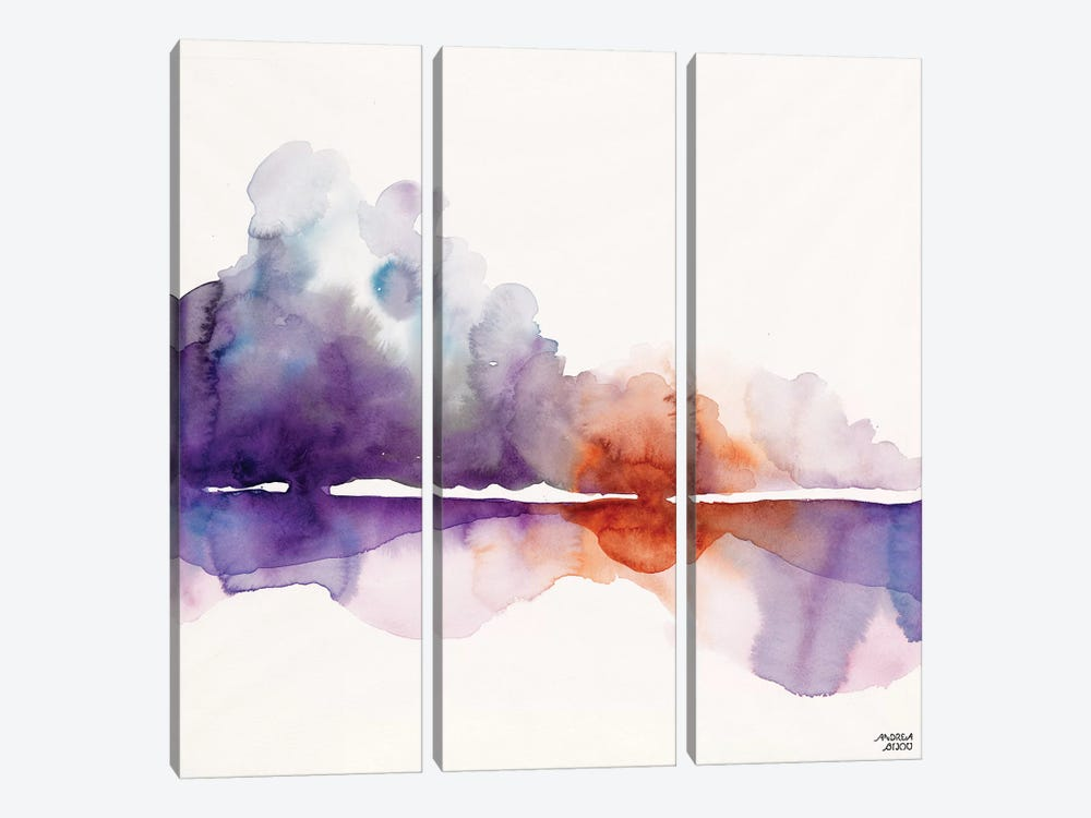 Purple Sun by Andrea Bijou 3-piece Canvas Wall Art