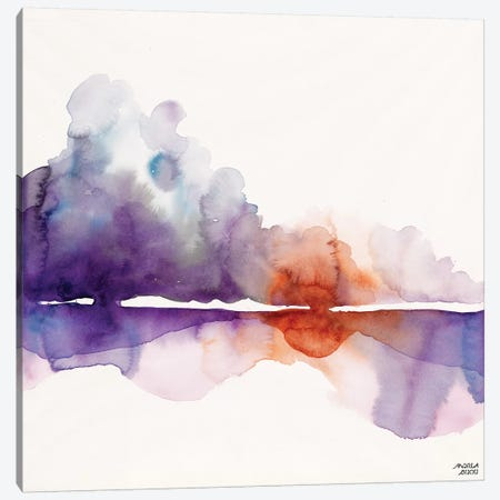 Purple Sun Canvas Print #ABI7} by Andrea Bijou Canvas Artwork