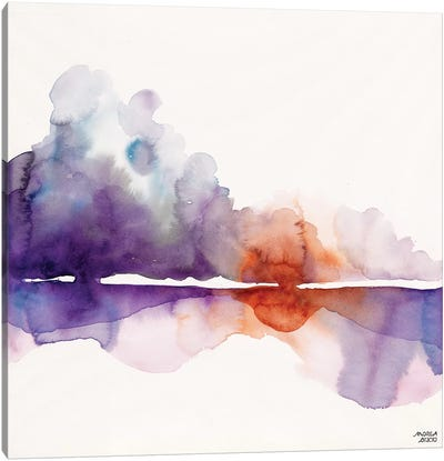 Purple Sun Canvas Art Print