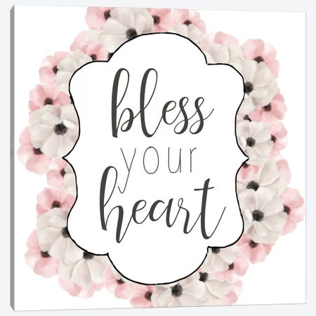 Bless Your Heart Canvas Print #ABL12} by Ann Bailey Art Print