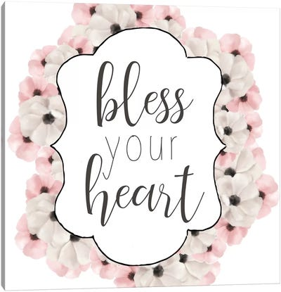 Bless Your Heart Canvas Art Print