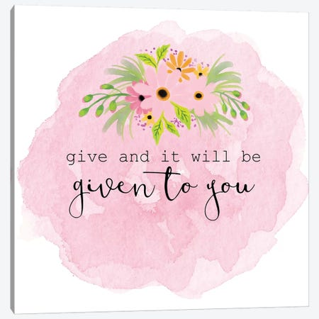 Give Canvas Print #ABL13} by Ann Bailey Canvas Print