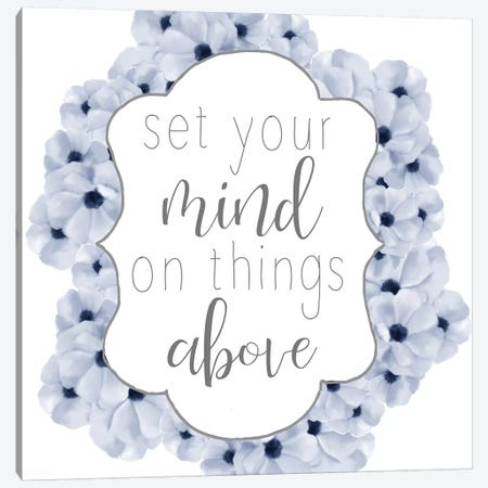 Set Your Mind Canvas Print #ABL16} by Ann Bailey Canvas Art