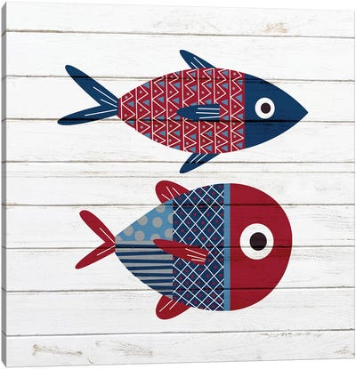 Americana Fish I Canvas Art Print