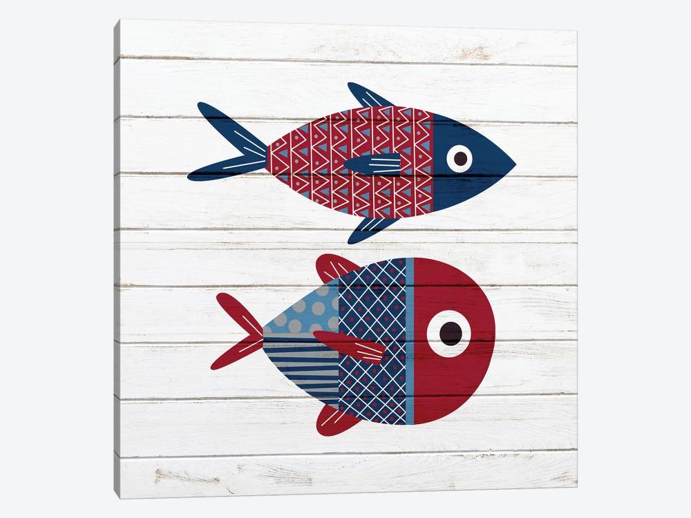 Americana Fish I by Ann Bailey 1-piece Canvas Print