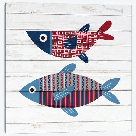 Americana Fish II Canvas Print #ABL22} by Ann Bailey Canvas Art