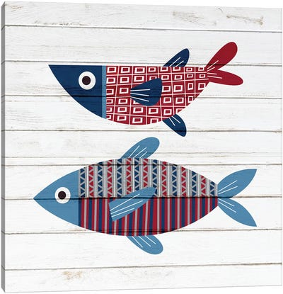 Americana Fish II Canvas Art Print