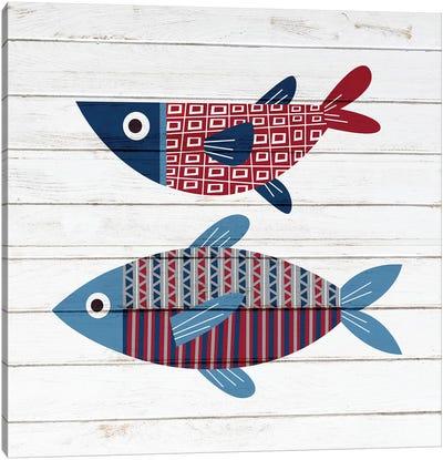 Americana Fish II Canvas Art Print