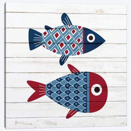 Americana Fish III Canvas Print #ABL23} by Ann Bailey Canvas Art