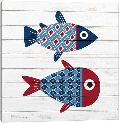 Americana Fish III Canvas Art Print