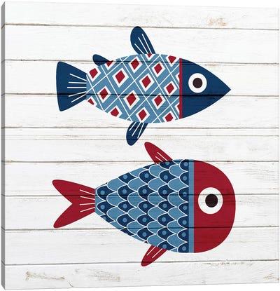 Americana Fish III Canvas Art Print