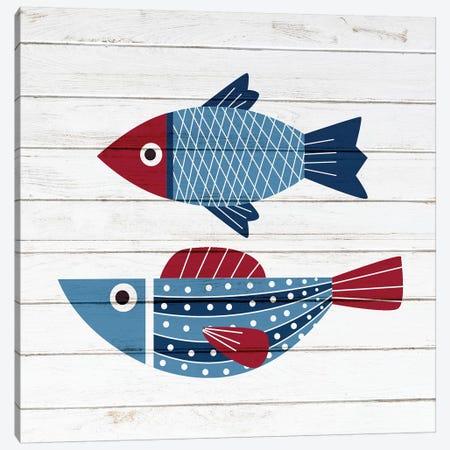 Americana Fish IV Canvas Print #ABL24} by Ann Bailey Canvas Art Print