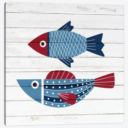 Americana Fish IV Canvas Print #ABL24} by Ann Bailey Canvas Art Print