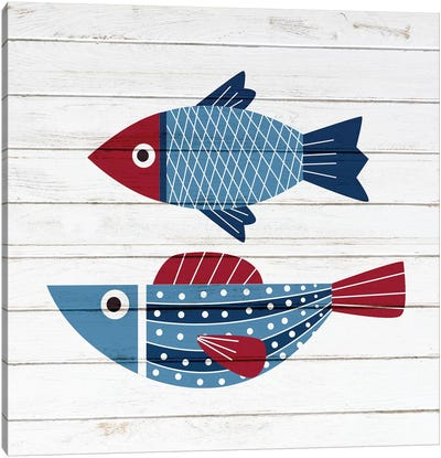 Americana Fish IV Canvas Art Print