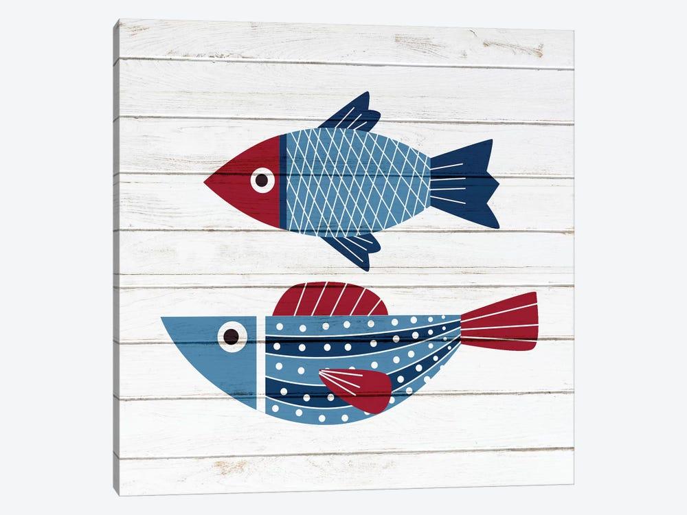 Americana Fish IV by Ann Bailey 1-piece Canvas Wall Art