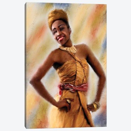 Smile Canvas Print #ABL36} by Ann Bailey Canvas Wall Art
