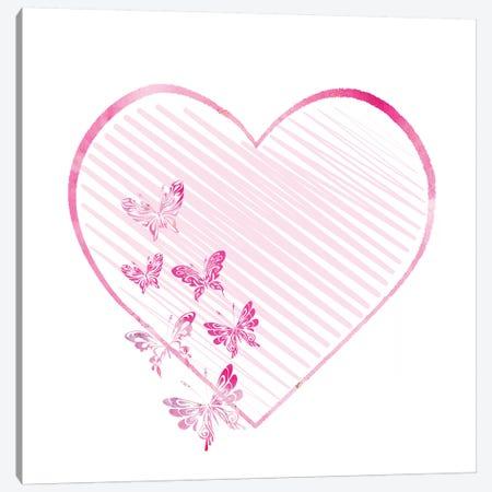 Butterfly Heart II Canvas Print #ABL4} by Ann Bailey Art Print