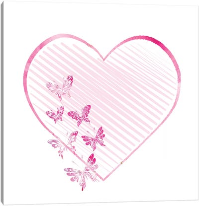 Butterfly Heart II Canvas Art Print