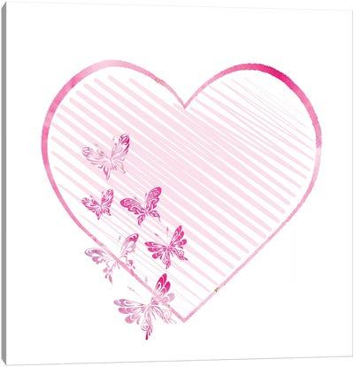 Butterfly Heart II Canvas Art Print