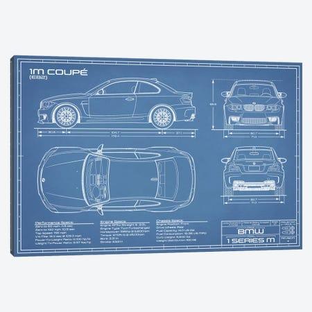 BMW 1M Coupe (F82) | Blueprint Canvas Print #ABP10} by Action Blueprints Art Print