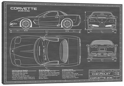 Corvette (C5) Z06 Black Canvas Art Print