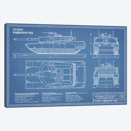 1980 M1A1 Abrams Battle Tank Blueprint Canvas Print #ABP2} by Action Blueprints Canvas Art Print