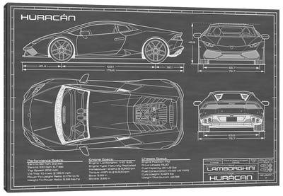 Lamborghini Huracan LP 610-4 | Black Canvas Art Print