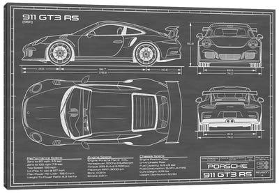 Porsche 911 GT3 RS (991) | Black Canvas Art Print
